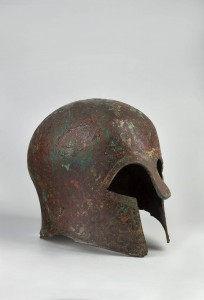 Helmet of a Greek hoplite, Myros type (Corintian), Greece, 6th c. BC, bronze, in NMW since 1946