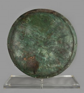 Bronze hoplite shield, Italy (?), 6th c. BC, bronze, Deposit of Alexander Guttmann